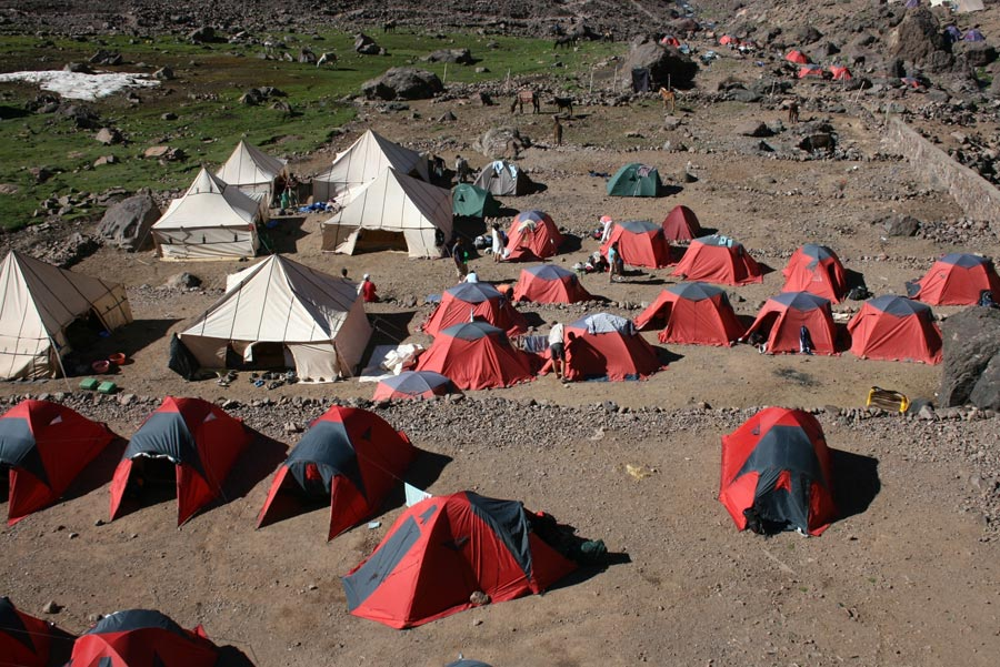 DAY 3 - TOUBKAL BASE CAMP - Breakfast / Lunch / Dinner Included